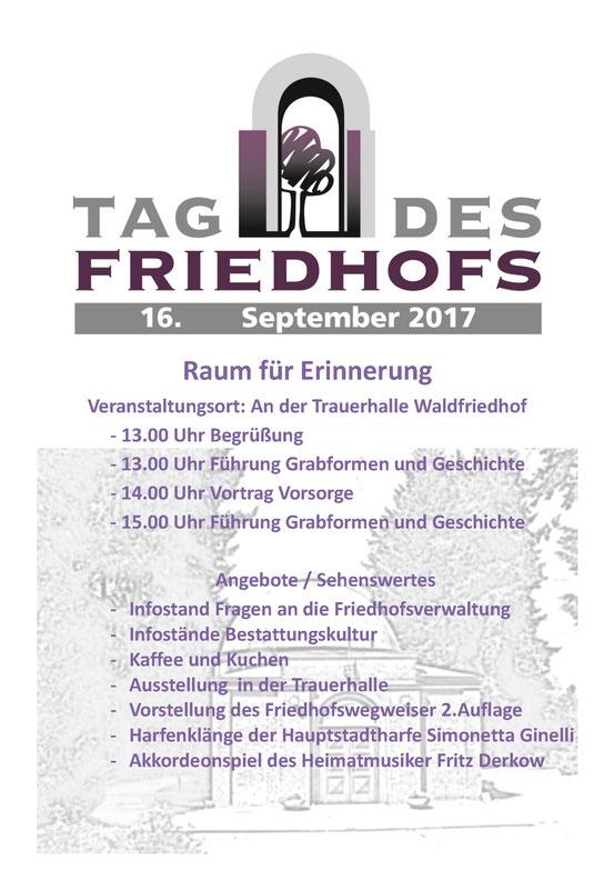 Friedhof Eberswalde Friedhofstag 2017 Bestattungshaus Deufrains