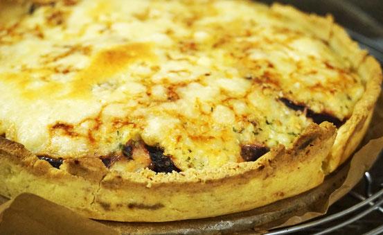 Kross mit Käse überbacken! Lecker!
