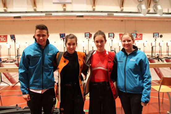 Andri, Valentina, Carina ed Elena. 6. platz Verbansmatsch