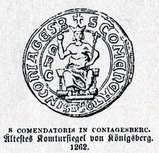 печать комтура Кёнигсберга 1262