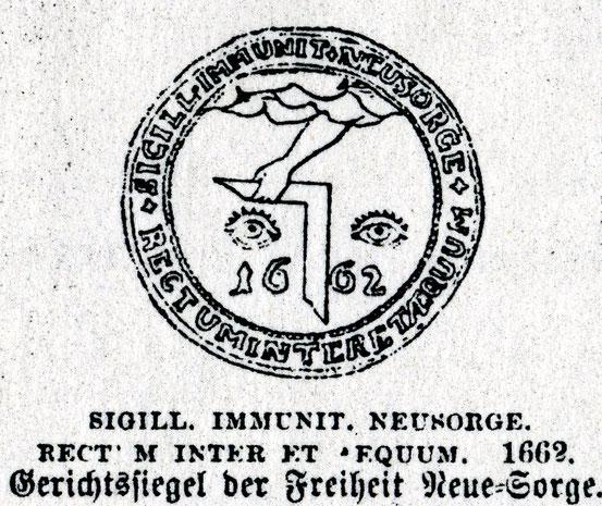 Нойе-Зорге  Кёнигсберг 1662