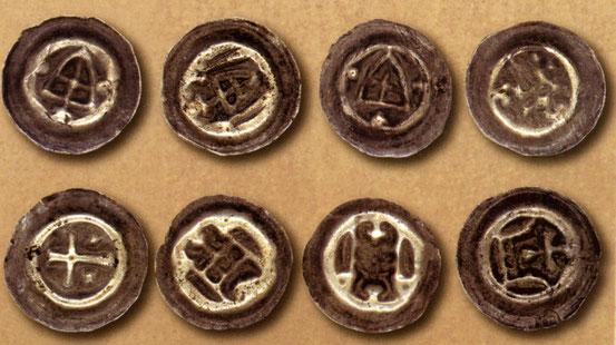 Brakteat (Hohlpfenninge)- малый пфенинг 14-15 вв.