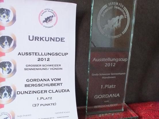 Siegerin des Ausstellungscups 2012