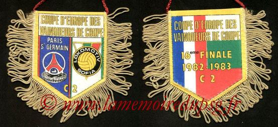 Fanion PSG-Lokomotiv Sofia  1982-83