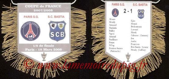 Fanion  PSG-Bastia  2008-09