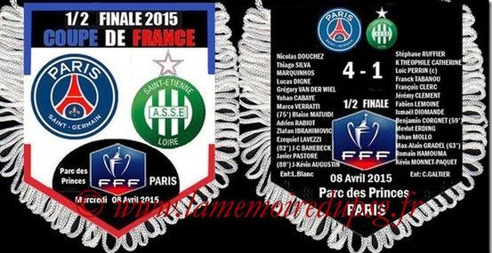 Fanion  PSG-Saint Etienne  2014-15