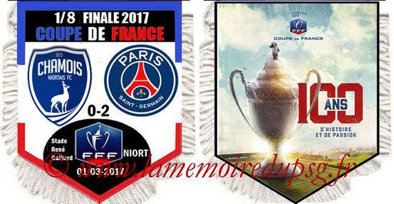 Fanion  Niort-PSG  2016-17