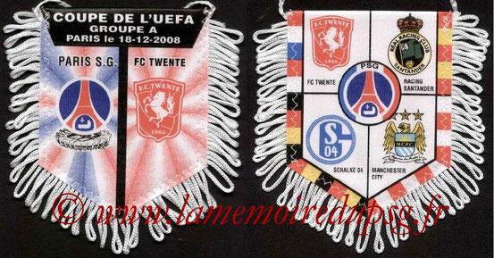 Fanion  PSG-FC Twente  2008-09