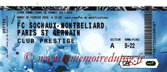 Ticket  Sochaux-PSG  2017-18