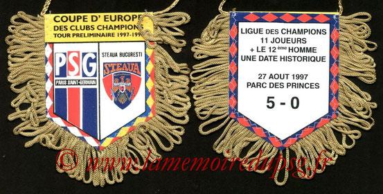 Fanion PSG-Steaua Bucarest 1997-98