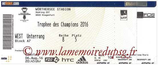Ticket  PSG-Lyon  2016-17