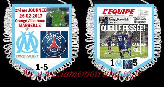 Fanion  Marseille-PSG  2016-17