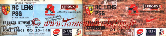 Tickets  Lens-PSG  2001-02