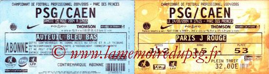 Tickets  Rennes-PSG  2004-05