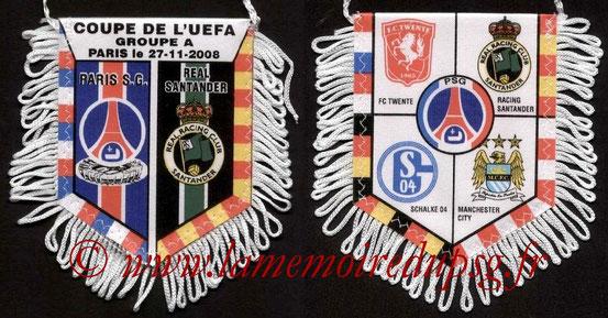 Fanion  PSG-Racing Santander  2008-09