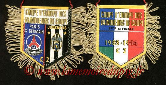 Fanion  PSG-Juventus Turin  1983-84