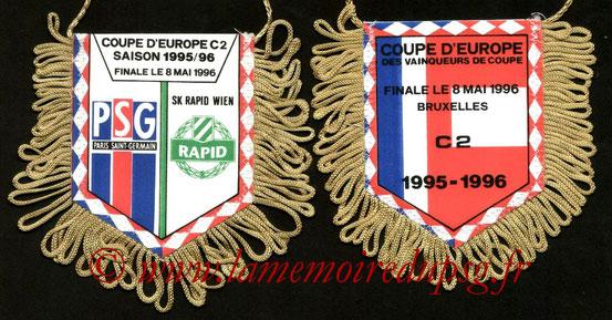 Fanion PSG-Rapid Vienne  1995-96