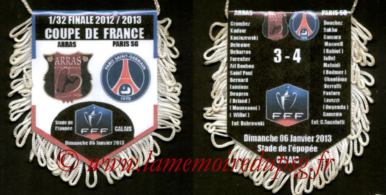 Fanion  Arras-PSG  2012-13