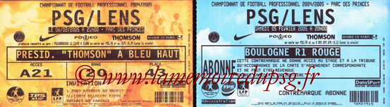 Tickets  PSG-Lens  2004-05