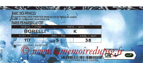 Ticket  PSG-Marseille  2017-18