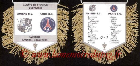 Fanion  Amiens-PSG  2008-09