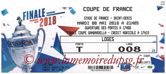 Ticket  Les Herbiers-PSG  2017-18