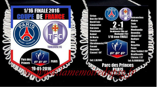 Fanion  PSG-Toulouse  2015-16
