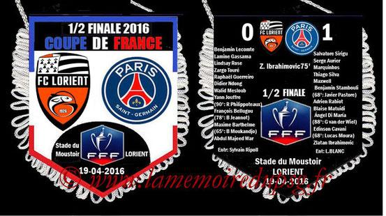 Fanion  Lorient-PSG  2015-16