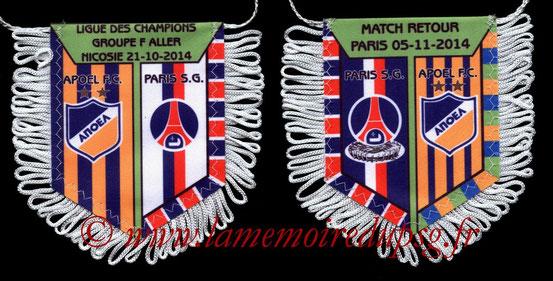 Fanion PSG-APOEL Nicosie  2014-15