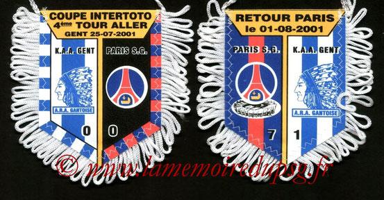 Fanion PSG-La Gantoise 2001-02
