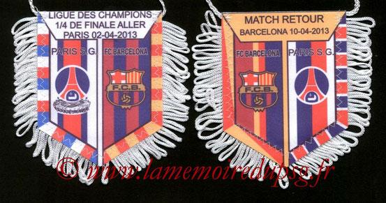 Fanion  PSG-FC Barcelone  2012-13