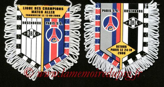 Fanion PSG-Rosenborg BK 2000-01