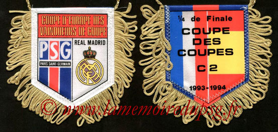 Fanion PSG-Real Madrid  1993-94