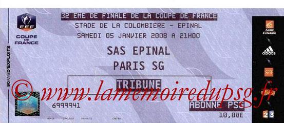 Ticket  Epinal-PSG  2007-08