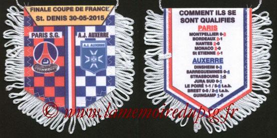Fanion  PSG-Auxerre  2014-15