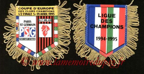 Fanion  PSG-Milan AC  1994-95