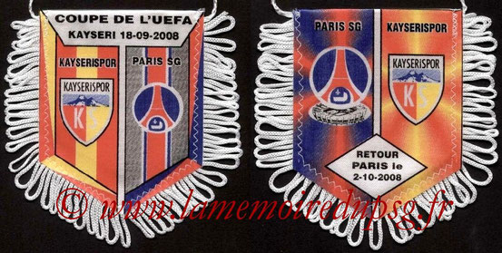 Fanion  PSG-Kayserispor  2008-09