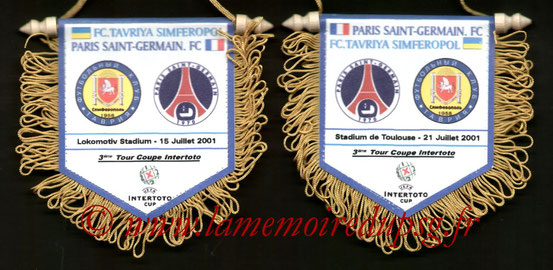 Fanion PSG-Tavriya Simferopol 2001-02