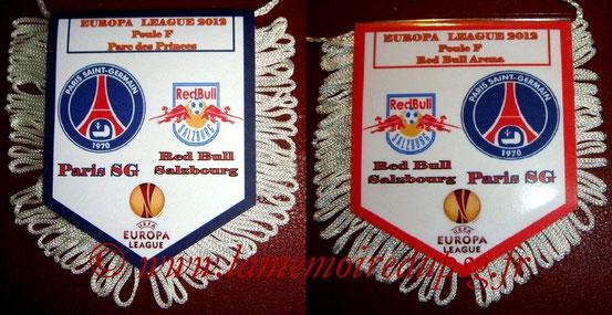 Fanion  PSG-Red Bull Salzburg  2011-12
