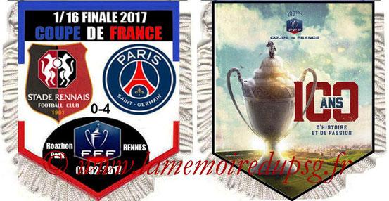 Fanion  Rennes-PSG  2016-17