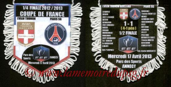 Fanion  Evian TG-PSG  2012-13