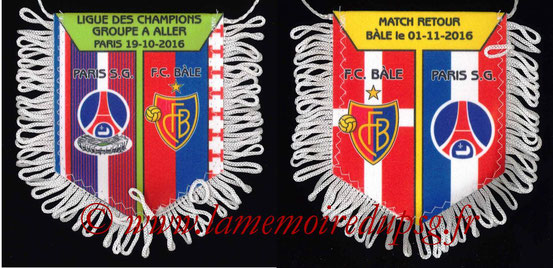 Fanion  PSG-FC Bâle  2016-17