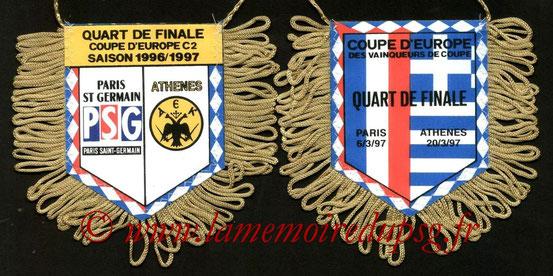 Fanion PSG-AEK Athenes  1996-97