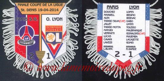 Fanion  PSG-Lyon  2013-14 (avec score)