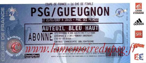 Ticket  PSG-Gueugnon  2006-07
