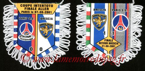 Fanion PSG-Brescia Calcio 2001-02