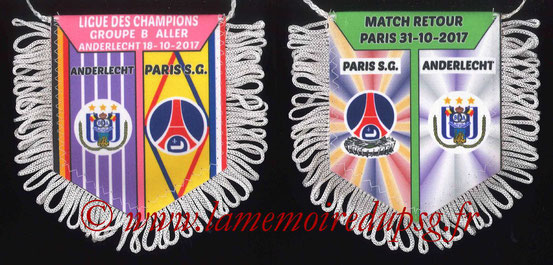Fanion  PSG-Andelecht  2017-18