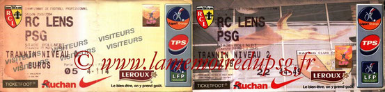 Tickets  Lens-PSG  2003-04
