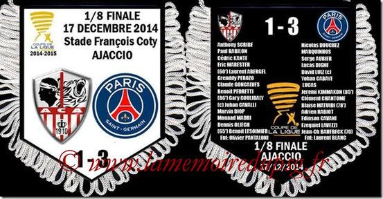 Fanion  AC Ajaccio-PSG  2014-15