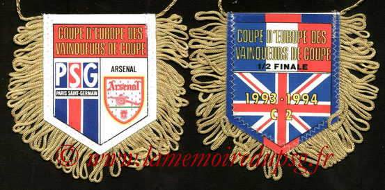 Fanion PSG-Arsenal FC  1993-94